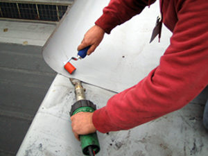 Everhard seam roller in use